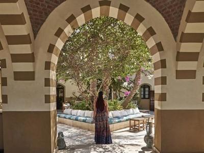 Dawar el Omda Egypte jardin intérieur