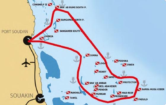 Itinéraire Archipel Suakin et légendes