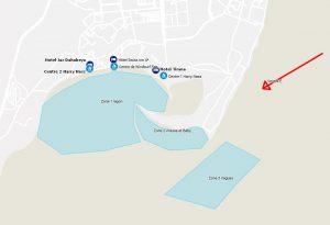 Zones de windsurf à Dahab