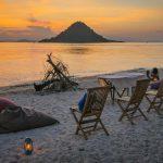 Komodo coucher de soleil