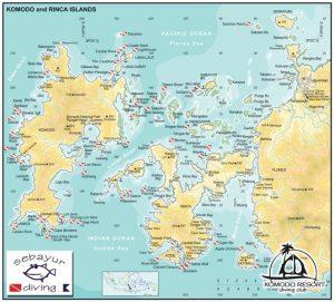 spots de plongée Komodo