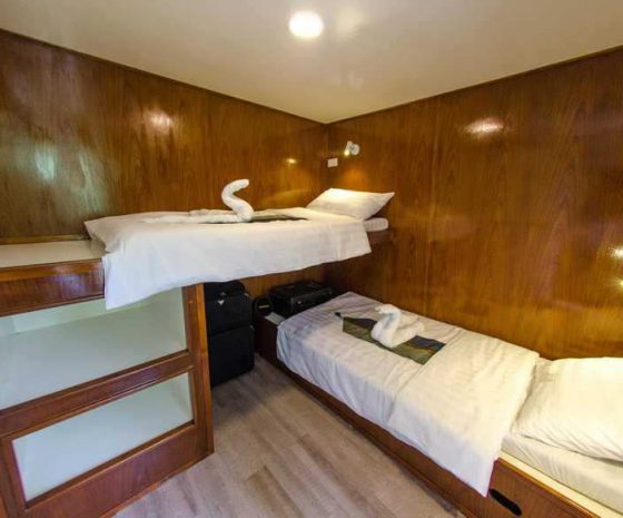 Cabine nouveau bateau croisière Birmanie