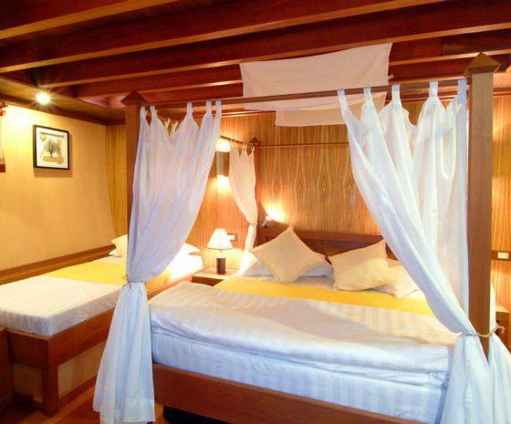 Croisière plongée Maldives Haleema cabine
