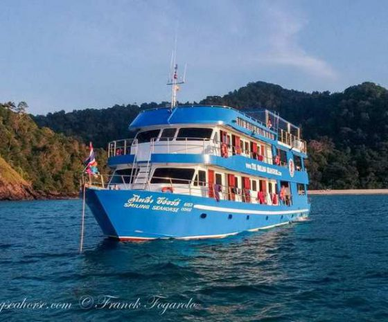bateau smiling seahorse Birmanie Thaïlande