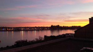 Coucher de soleil devant Spots d'Evasion Nantes